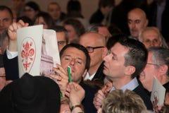 Matteo Renzi national premier, last day as Florence Royalty Free Stock Image