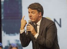 Matteo Renzi, PD secretary, Democratic Party. At a meeting with citizens in Florence Stock Photos