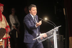 Matteo Renzi primo Fotografia Stock Libera da Diritti