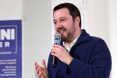 Matteo Salvini. He is an Italian politician. Member of Parliament and MEP, since December 2013 he is Federal Secretary of the Northern League Royalty Free Stock Photography