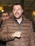 Matteo Salvini. He is an Italian politician. Member of Parliament and MEP, since December 2013 he is Federal Secretary of the Northern League Stock Image