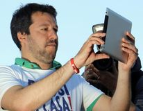 Matteo salvini,italy. Matteo Salvini is an Italian politician. MP and MEP , since December 2013, federal secretary of the Northern League Stock Image