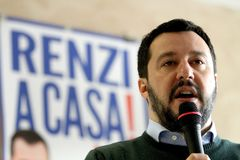 Matteo Salvini. He is an Italian politician. Member of Parliament and MEP, since December 2013 he is Federal Secretary of the Northern League Royalty Free Stock Images