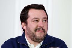 Matteo Salvini. He is an Italian politician. Member of Parliament and MEP, since December 2013 he is Federal Secretary of the Northern League Royalty Free Stock Photos