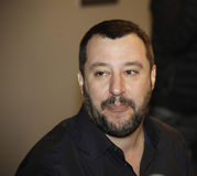 Matteo Salvini. Secretary of the political party italiano Lega North, visiting Florence Royalty Free Stock Photography