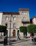 Matteotti fyrkant i Fondi, Italien Fotografering för Bildbyråer