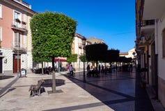 Matteotti kwadrat w Fondi, Włochy zdjęcia stock