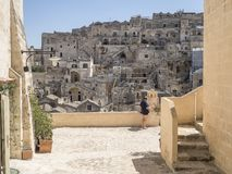 Matter city in south italy. Houses o stones in matter city south italy Stock Photo