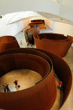 The Matter of Time in Guggenheim  Bilbao. The Matter of Time by Richard Serra in the Arcelor Gallery  in the Guggenheim  Museums in Bilbao, Spain, Basque Country Royalty Free Stock Photography
