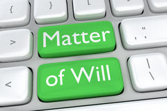 Matter of Will concept Royalty Free Stock Photography