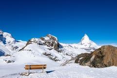 Matterhorn, το διασημότερο βουνό σε Zermatt, Ελβετία Στοκ Εικόνες