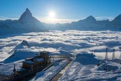 matterhorn Швейцария Стоковая Фотография