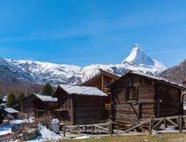 matterhorn Швейцария Стоковые Изображения RF