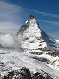 Matterhorn 1, Switzerland. Although the Matterhorn (or Mount Cervino as know in Italy) is not the highest mountain in Switzerland, it is certainly the most Royalty Free Stock Photos