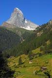 Matterhorn. The beautiful Matterhorn taken from Zermatt early in the morning Stock Photos