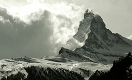Matterhorn. As seen from Zermatt, Switzerland Royalty Free Stock Photography