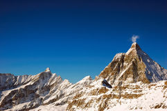 Matterhorn. The winter south and east face of Matterhorn, west Alps, Italy Royalty Free Stock Images