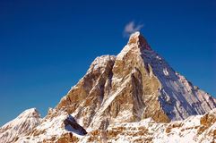 Matterhorn. The winter south and east face of Matterhorn, west Alps, Italy Royalty Free Stock Photo