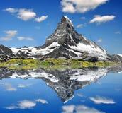 Matterhorn. Reflection of the famous Matterhorn Royalty Free Stock Photography
