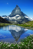 Matterhorn. The Matterhorn behind a beautiful lake Stock Images