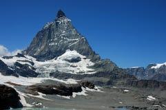 Matterhorn. The famous Matterhorn, 4478m, in the Swiss/Italian alps Stock Images