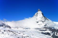 The Matterhorn. Matterhorn from Gormergrat observation tower, Switzerland Royalty Free Stock Photography