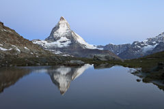 Matterhorn. With reflection, Pennine Alps, Switzerland, Europe royalty free stock images