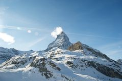 Matterhorn. Sunny winter day in the Alps Royalty Free Stock Photos