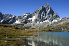 Matterhorn. Mountain chain of the Alps, the Italian side Royalty Free Stock Photo