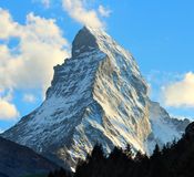 Matterhorn. As seen from Zermatt at sunset, Switzerland Stock Photo
