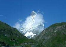 Matterhorn. Famous Swiss mountain in the Valais, southern part of Switzerland Royalty Free Stock Image
