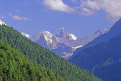 Matterhorn. The French alps of switzerland with a view to the Matterhorn Royalty Free Stock Image