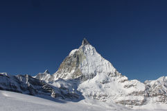 Matterhorn. In winter (side view from ski slope stock images