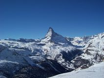 Matterhorn. View of the Matterhorn from Switzerland Stock Image