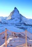 The Matterhorn. As viewed from Gornergrat, Switzerland Stock Image