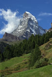 Matterhorn. The beautiful Matterhorn in Switzerland Stock Images