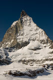 Matterhorn. In winter with clear blue sky Stock Image