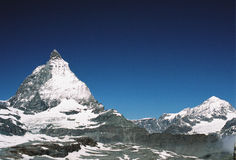 Matterhorn. View of matterhorn in summer Stock Photo
