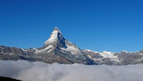 Matterhorn. Above the clouds Stock Photos