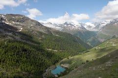 Matterhorn above Moosjisee royalty free stock photography