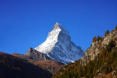 Matterhorn in the afternoon Stock Photos
