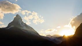 Matterhorn al tramonto Immagine Stock Libera da Diritti