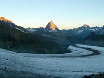Matterhorn + Aletsch-Glacier Royalty Free Stock Images