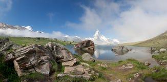 Matterhorn in Alpen, Zwitserland Royalty-vrije Stock Fotografie