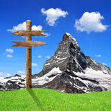 Matterhorn - alpes suíços Fotos de Stock Royalty Free