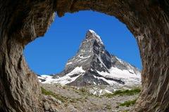 Matterhorn - alpi svizzere Fotografie Stock