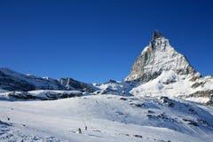 Matterhorn in alpi svizzere Immagine Stock Libera da Diritti