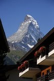 Matterhorn, alpi svizzere, Svizzera Immagine Stock Libera da Diritti