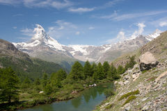Matterhorn in Alps, Switzerland Stock Photos