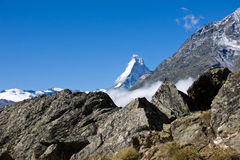 The Matterhorn appears Royalty Free Stock Photos